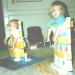 Chelsea and Jessica in standing frames
